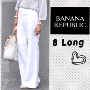 Banana Republic Martin Fit Fully Lined White Pants